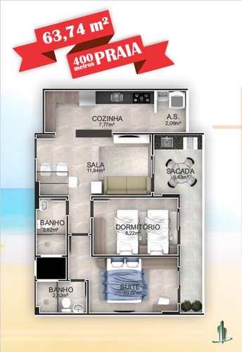 Apartamento, código 1666 em Praia Grande, bairro Aviação