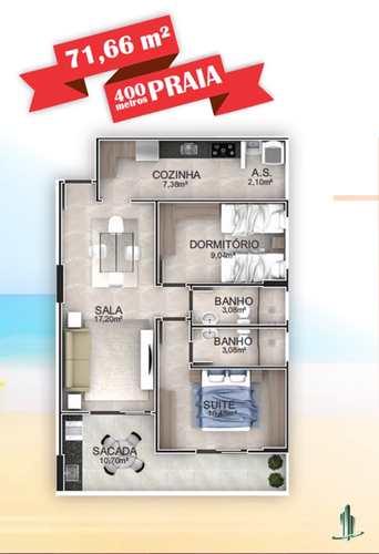 Apartamento, código 1668 em Praia Grande, bairro Aviação