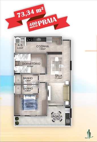 Apartamento, código 1669 em Praia Grande, bairro Aviação