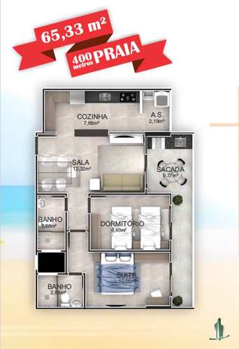 Apartamento, código 1670 em Praia Grande, bairro Aviação