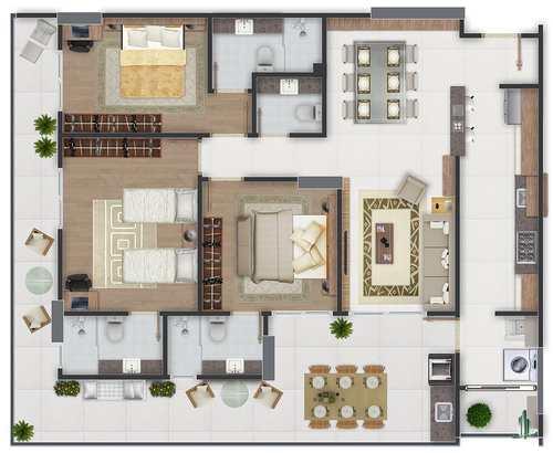 Apartamento, código 1029 em Praia Grande, bairro Canto do Forte