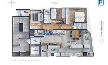 Apartamento em Balneário Piçarras, bairro Itacolomi