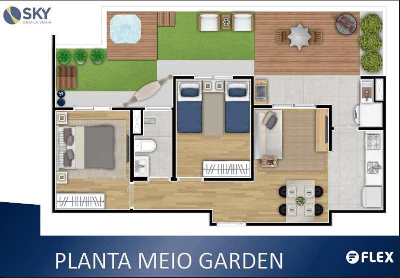 Apartamento em Cotia, no bairro Parque Rincão