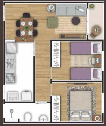 Apartamento, código 10 em Cotia, bairro Parque Rincão