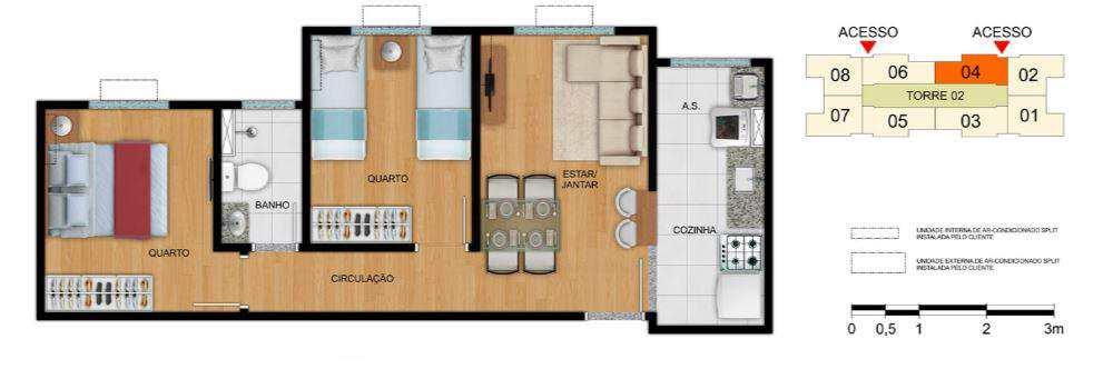 Apartamento em Goiânia, bairro Jardim Novo Mundo
