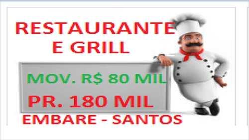 Restaurante, código 10001 em Santos, bairro Embaré