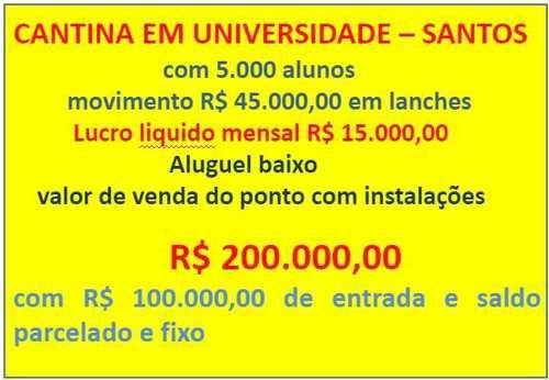 Cantina, código 10377 em Santos, bairro Encruzilhada