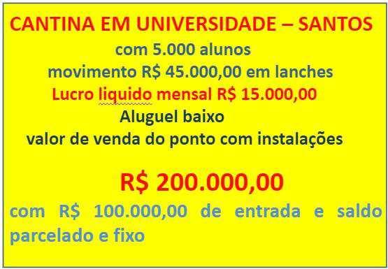 Fundo de Comércio em Santos, no bairro Encruzilhada
