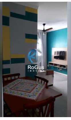 Apartamento, código 665 em Santos, bairro Saboó