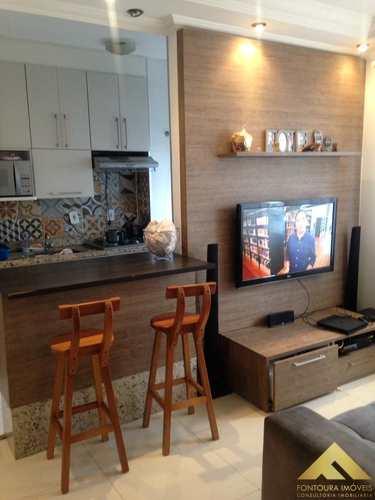 Apartamento, código 69 em Diadema, bairro Canhema