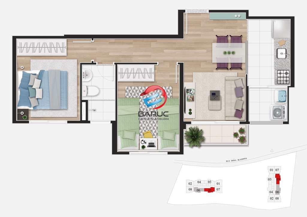 Apartamento em Osasco, no bairro Jaguaribe