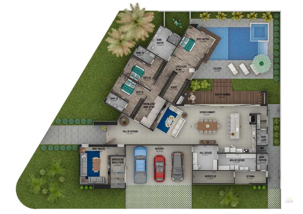Casa de Condomínio em Primavera do Leste, no bairro Condomínio Cidade Jardim