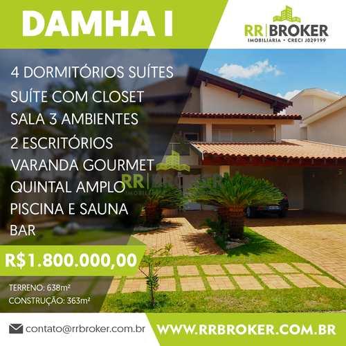 Sobrado de Condomínio, código 387 em São José do Rio Preto, bairro Parque Residencial Damha