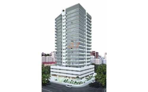 Apartamento, código 604 em Praia Grande, bairro Guilhermina