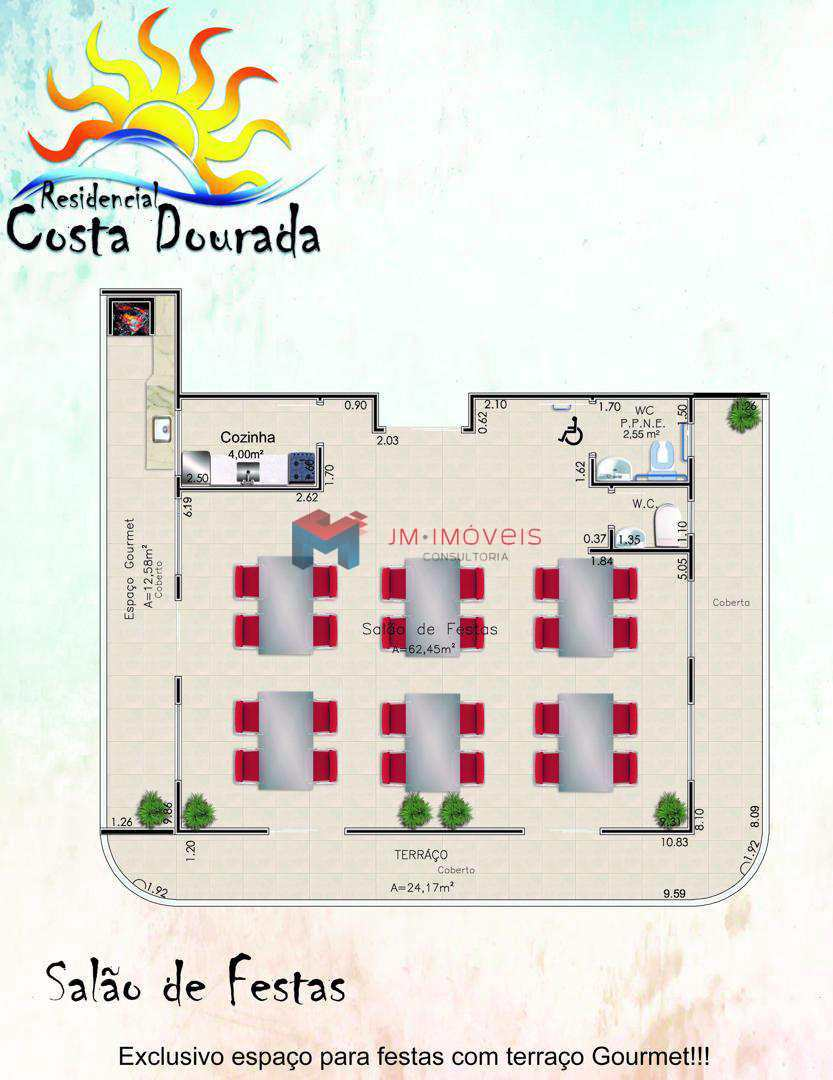 Apartamento com 1 dorm, Caiçara, Praia Grande - R$ 232.510,00, 46,3m² - Codigo: 413591