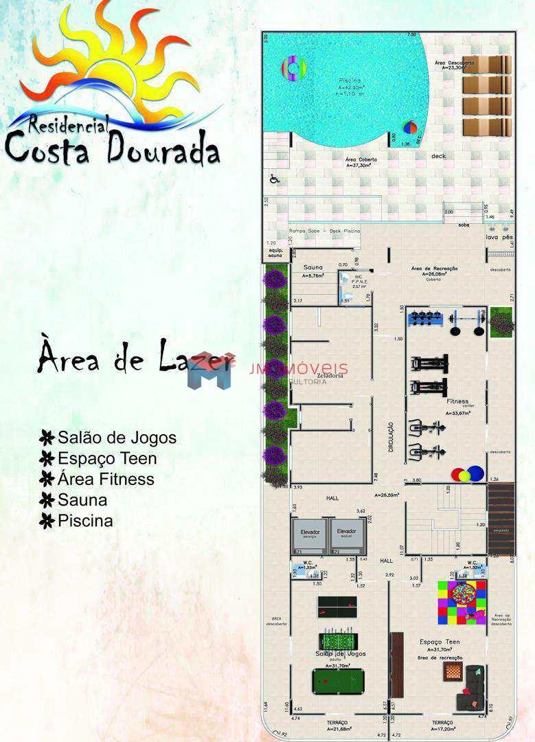 Apartamento com 1 dorm, Caiçara, Praia Grande - R$ 194.660,00, 40,71m² - Codigo: 413602
