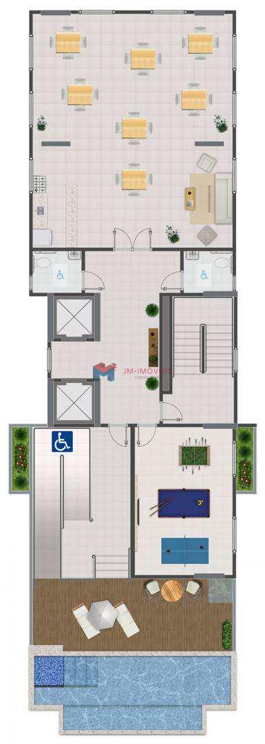 Apartamento com 2 dorms, Caiçara, Praia Grande - R$ 221 mil, Cod: 414100