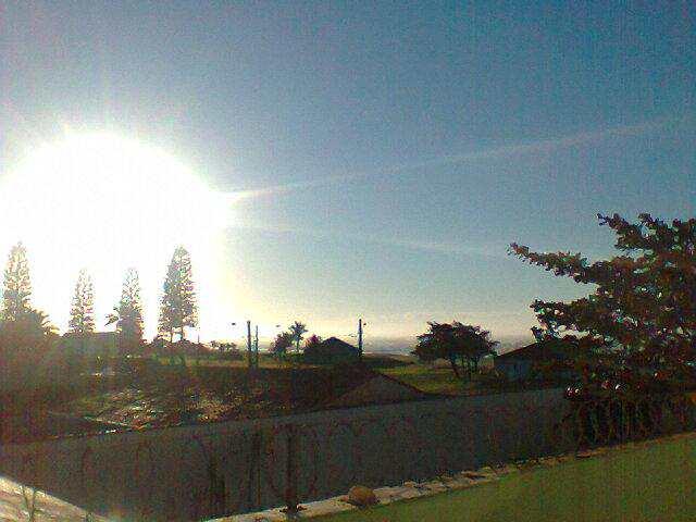 vista da lateral varanda de sol
