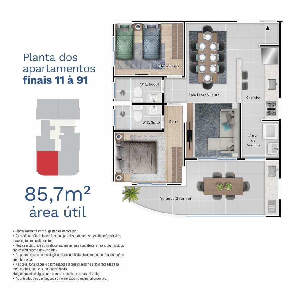 Apartamento com 2 dorms, Centro, Itanhaém - R$ 488 mil, Cod: 5303