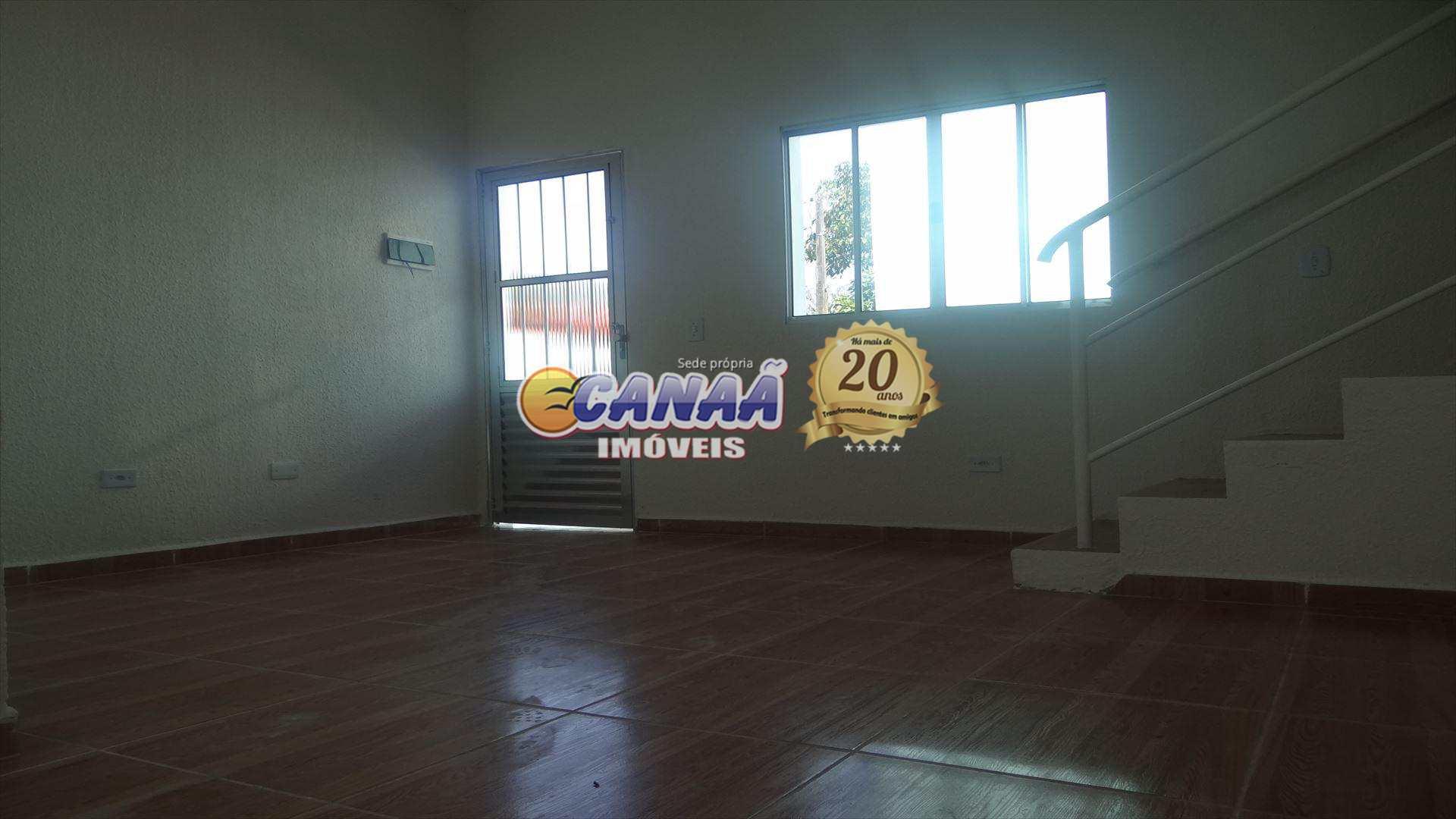 Sobrado de Condomínio com 2 dorms, Balneário Jussara, Mongaguá - R$ 133 mil, Cod: 6262