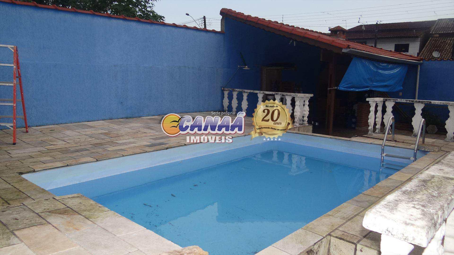 Casa com 3 dorms, Balneário Itaóca, Mongaguá - R$ 350 mil, Cod: 5677