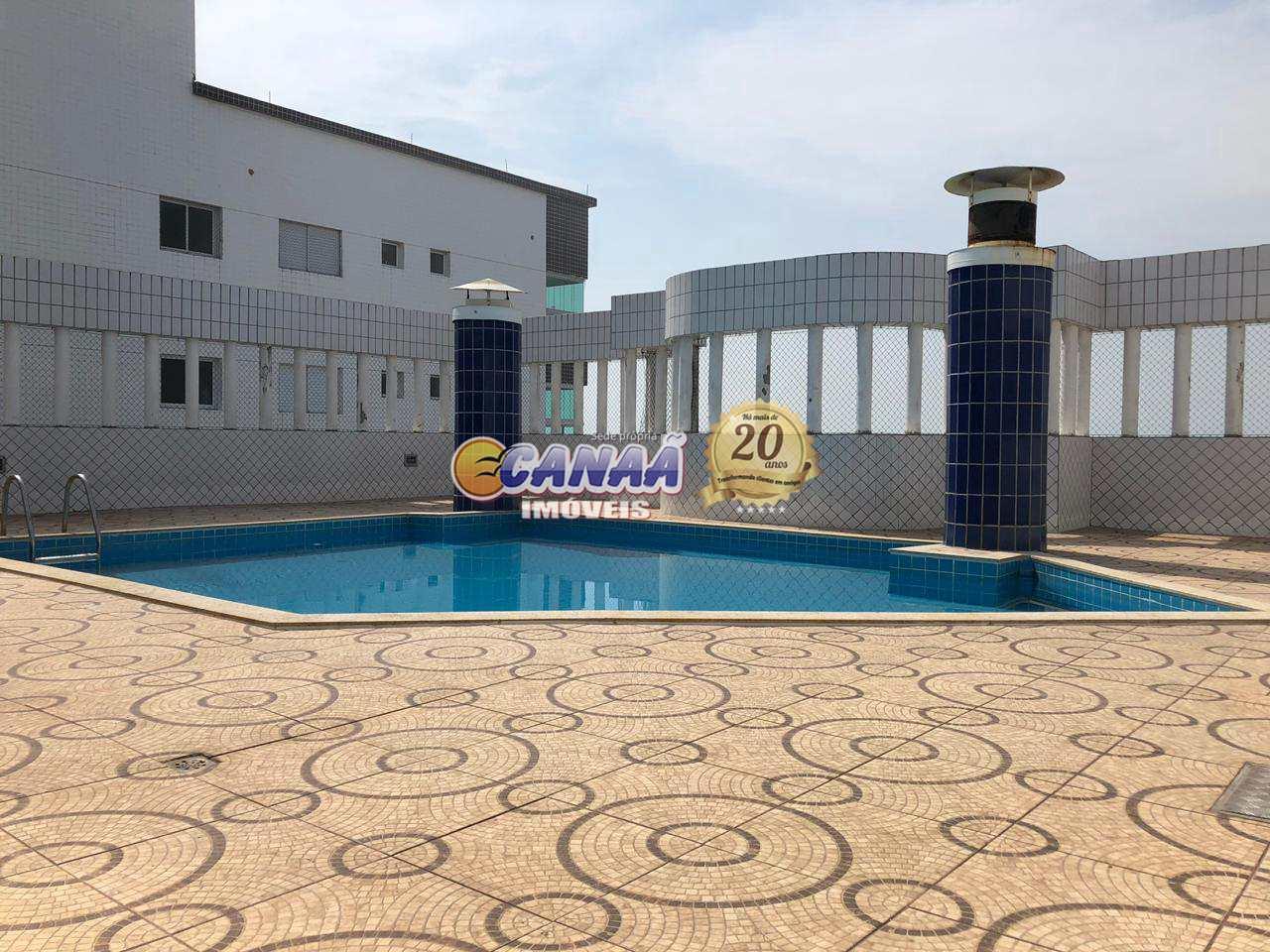 Apartamento na praia de Mongaguá com lazer e piscina .