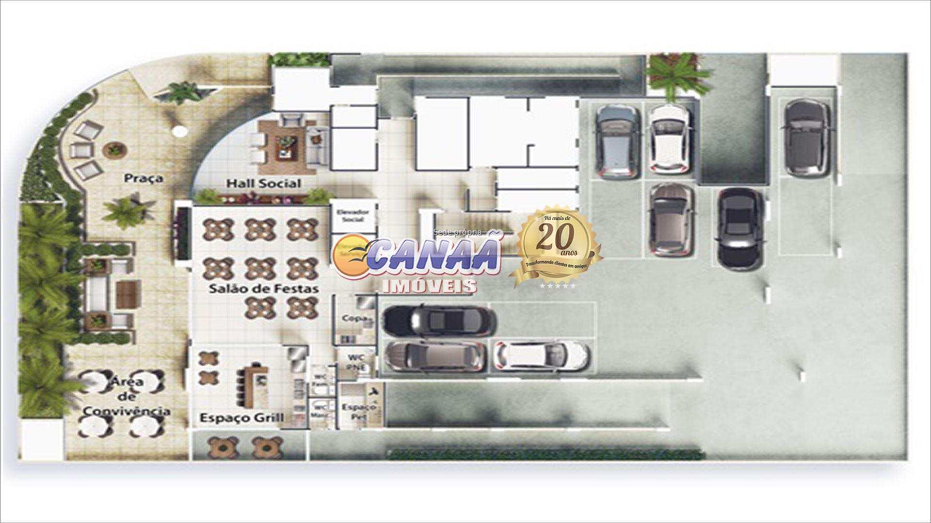 Apartamento com 2 dorms, Centro, Mongaguá - R$ 478 mil, Cod: 8514