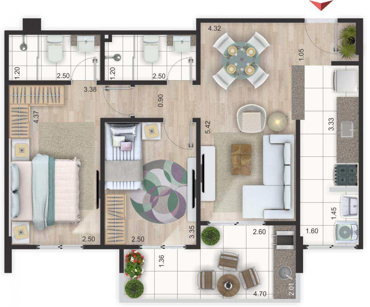 14 - Apartamento - construção - Flórida