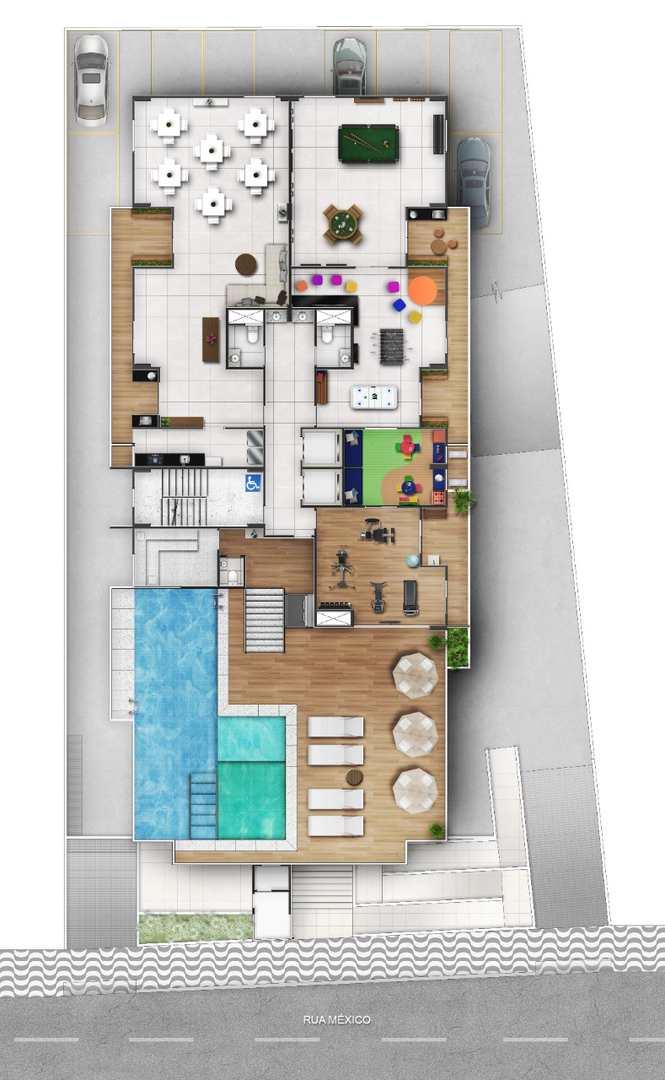 Apartamento com 3 dorms, Guilhermina, Praia Grande - R$ 574 mil, Cod: 24706
