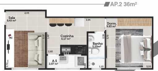 Apartamento com 1 dorm, Jardim Casqueiro, Cubatão - R$ 155 mil, Cod: 24889