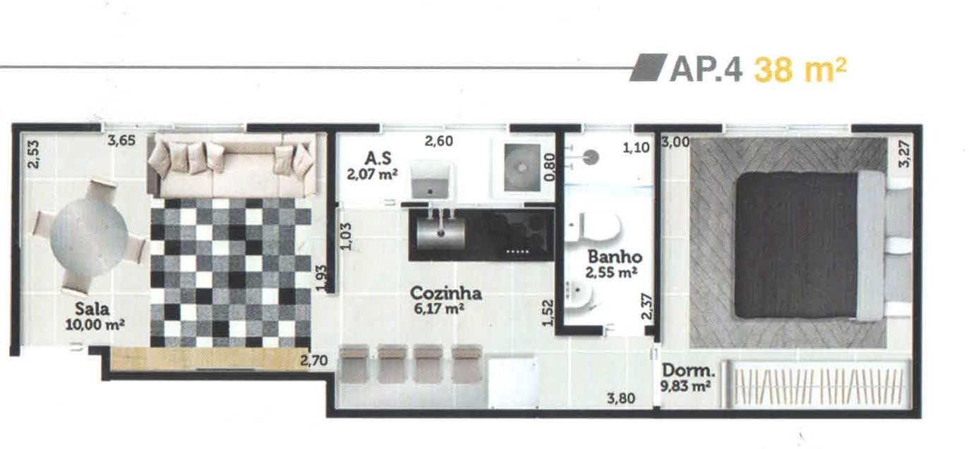 Apartamento com 1 dorm, Jardim Casqueiro, Cubatão - R$ 168 mil, Cod: 24966
