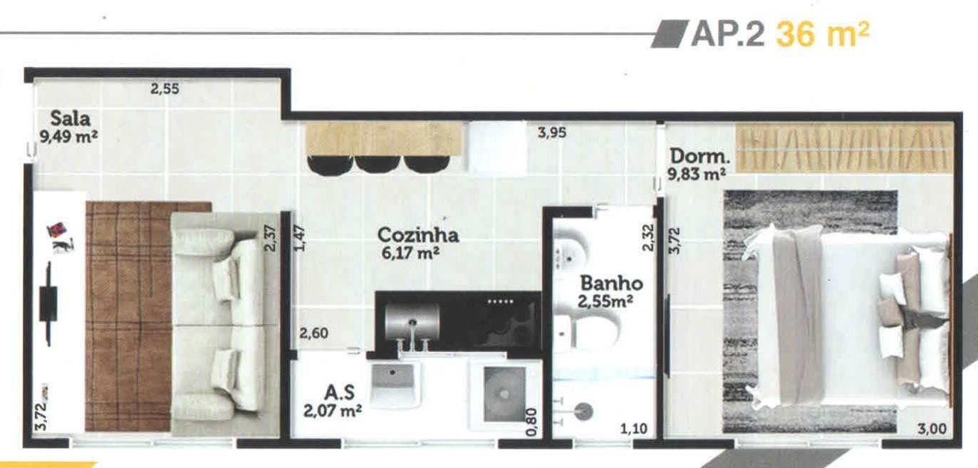 Apartamento com 1 dorm, Jardim Casqueiro, Cubatão - R$ 168 mil, Cod: 24968