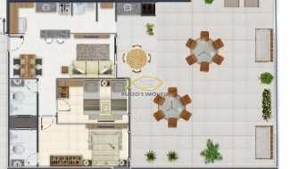Apartamento com 2 dorms, Canto do Forte, Praia Grande - R$ 370 mil, Cod: 60020612