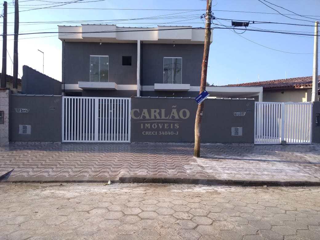 Sobrado com 2 dorms, Balneário Flórida Mirim, Mongaguá - R$ 190 mil, Cod: 352410