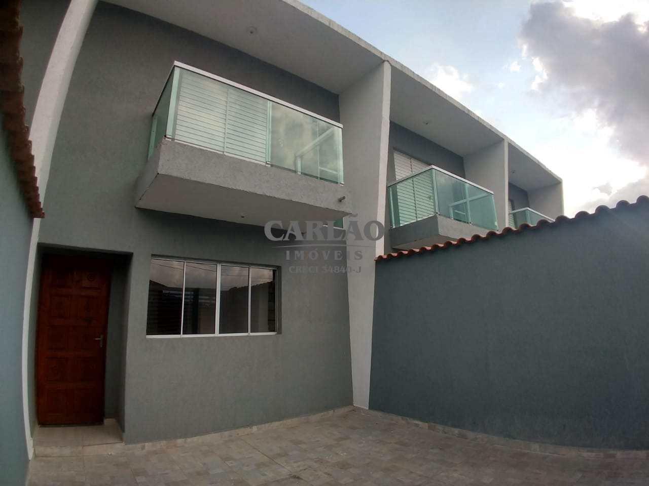Sobrado de Condomínio com 2 dorms, Vera Cruz, Mongaguá - R$ 189 mil, Cod: 352418