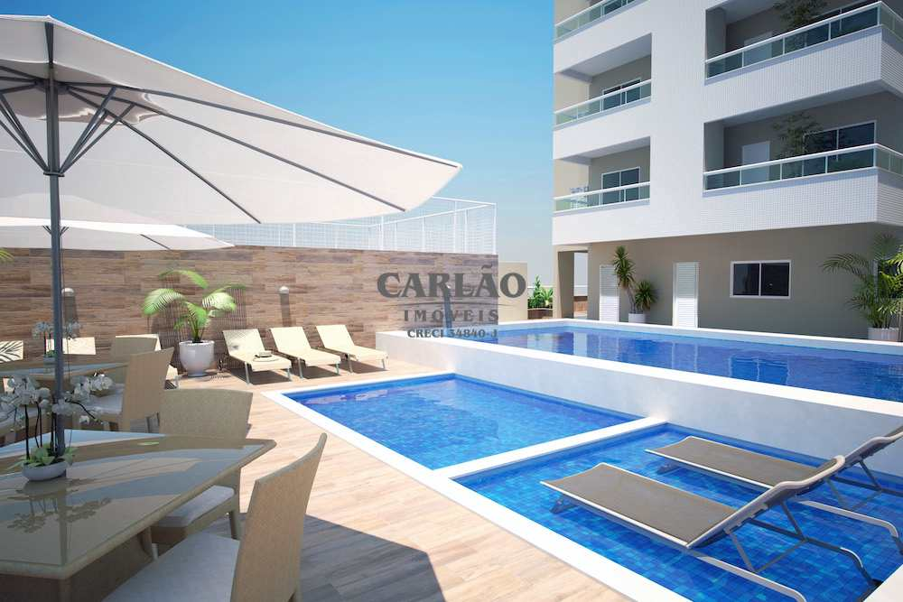 Apartamento com 1 dorm, Caiçara, Praia Grande - R$ 258 mil, Cod: 352666