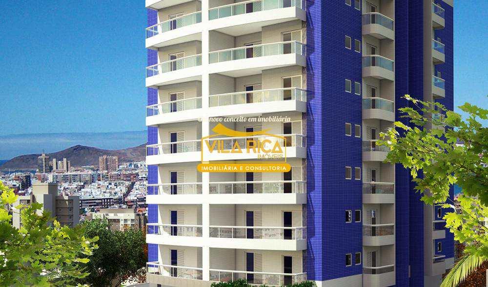 Apartamento com 2 dorms, Aviação, Praia Grande - R$ 350 mil, Cod: 375733