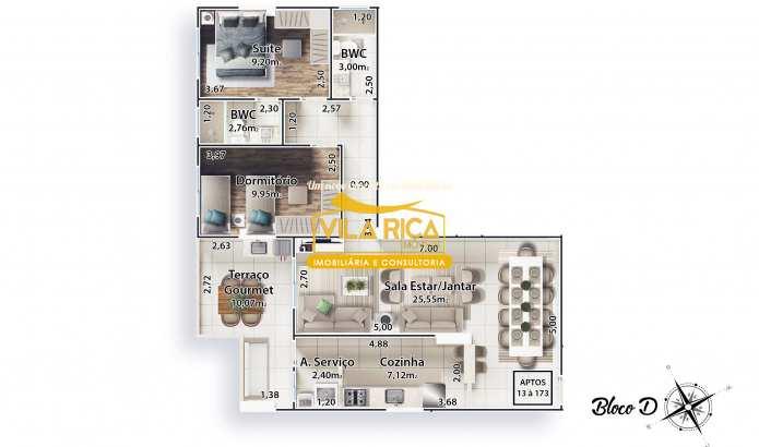 Apartamento com 2 dorms, Canto do Forte, Praia Grande - R$ 414 mil, Cod: 377516