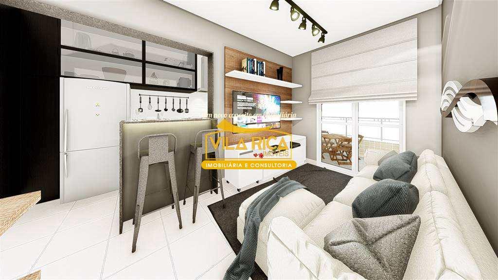 Apartamento com 1 dorm, Caiçara, Praia Grande - R$ 279 mil, Cod: 377612