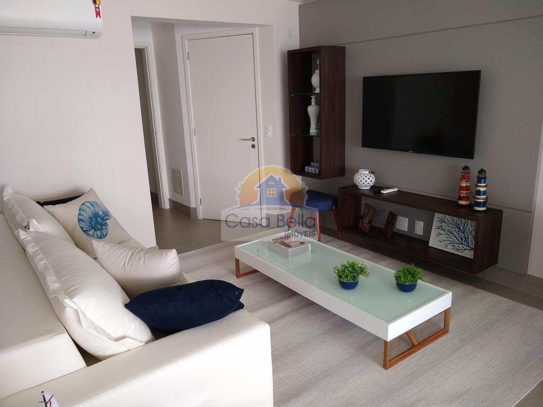 Apartamento novo com 3 dorms, Praia da Enseada, Guarujá