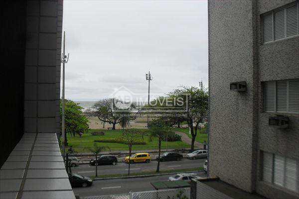 Apto Santos, frente a Praia, Gonzaga, Apto de 2 dormitórios