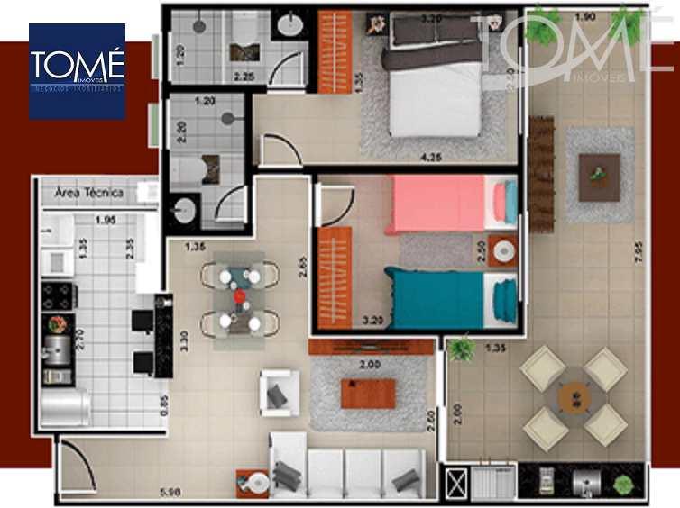 09b apartamentos-e-coberturas_01 - 2 dorm sendo 1 suíte - Tomé