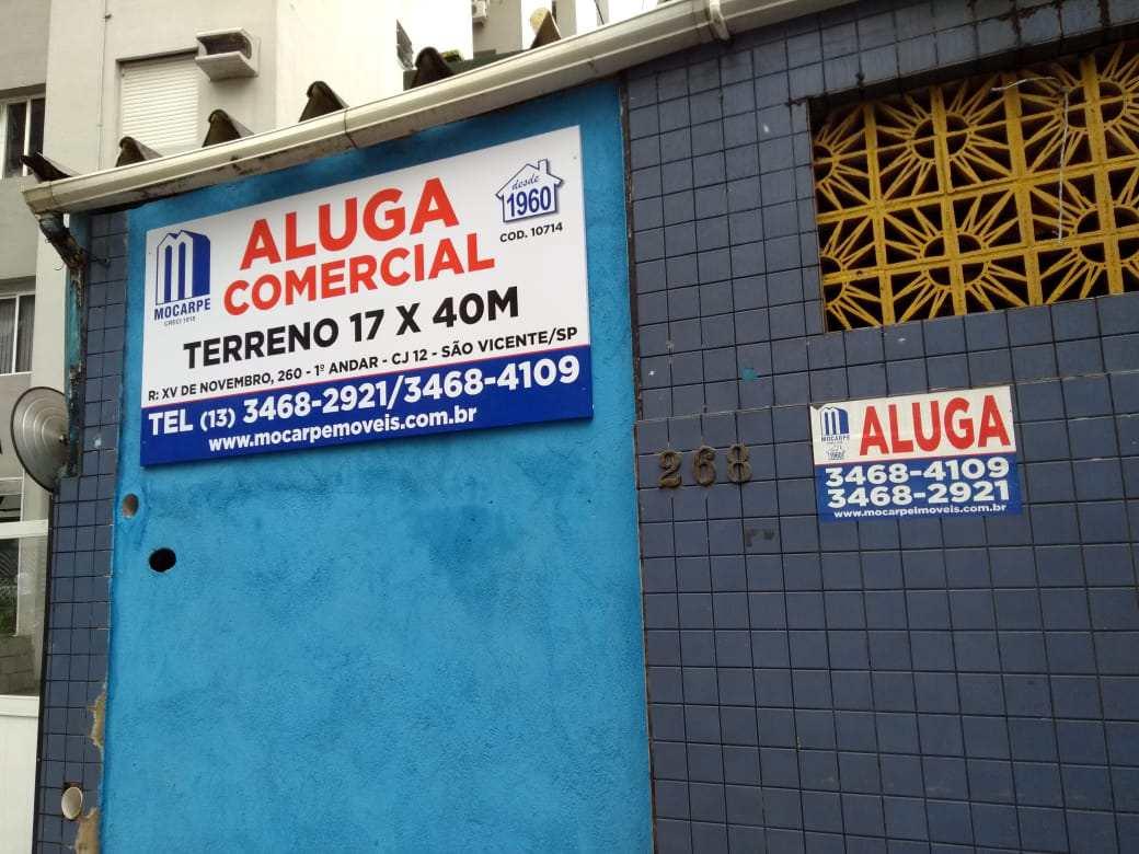 Locação Comercial em Santos bairro Gonzaga
