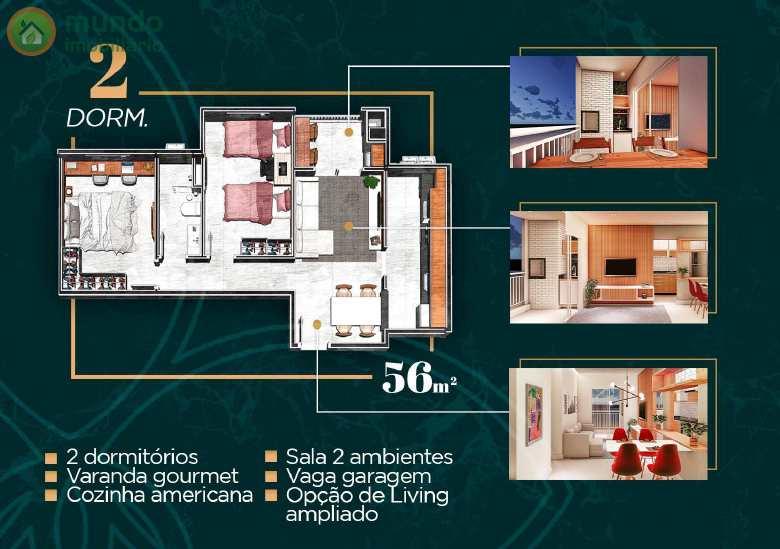 Apto 56 m²