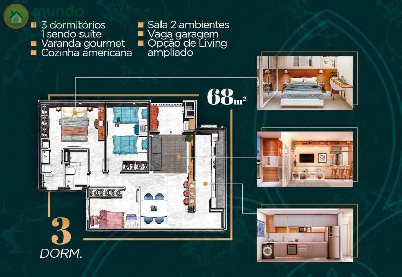 Apto 68 m²