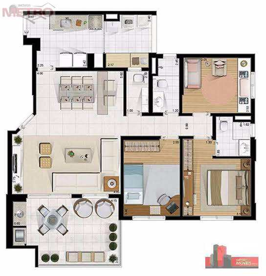 Apartamento com 3 dorms, Jardim Saúde, São Paulo - R$ 851 mil, Cod: 90200