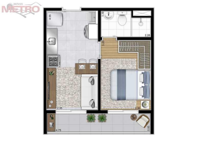 Apartamento com 1 dorm, Jardim Prudência, São Paulo - R$ 179 mil, Cod: 90928