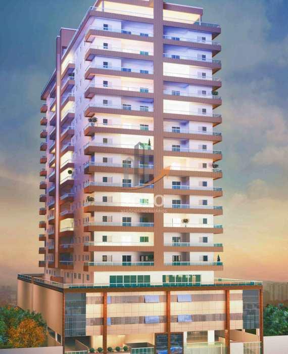 Lançamento altíssimo padrão em área nobre do bairro Vila Caiçara, apenas 1 quadra da praia, 02 e 03 dormitórios.