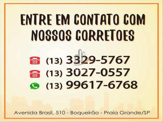 Apartamento com 2 dorms, Boqueirão, Praia Grande - R$ 575 mil, Cod: 4283