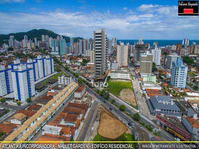 Empreendimento em construção no bairro Canto do Forte, pertinho da entrada de Praia Grande/SP, com lazer completo e churrasqueira no terraço.